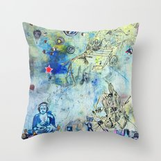 The Small World Experiment Throw Pillow