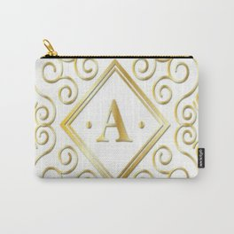gold initial a Carry-All Pouch