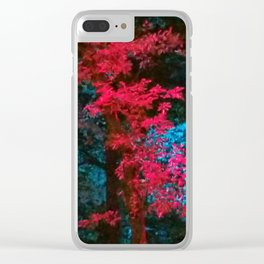 iDeal - Trippy Trees 01 Clear iPhone Case