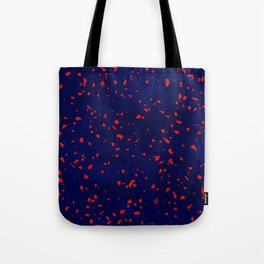 Terrazzo memphis blue galaxy orange Tote Bag