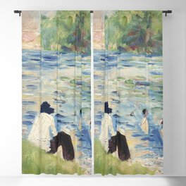 Bathers (Study for Bathers at Asnieres) (ca 1883-1884) by Georges Seurat Blackout Curtain