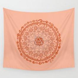 d20 Mandala Wall Tapestry