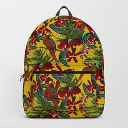Vintage & Shabby Chic - Colorful Parrots tropical Jungle Pattern Backpack