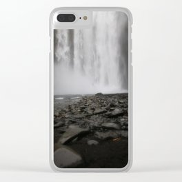 alone at the falls Clear iPhone Case
