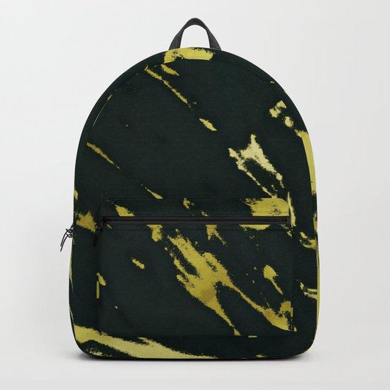 Gold Black Marble Backpack