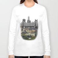 brooklyn Long Sleeve T-shirts featuring Brooklyn by Mark MacPhail