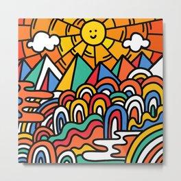 Shiny happy land Metal Print