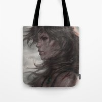 artgerm Tote Bags featuring Survivor by Artgerm™