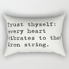 THE BEST RALPH WALDO EMERSON EVER quotes Rectangular Pillow