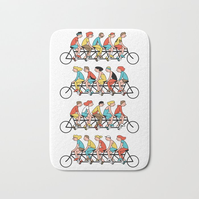 Bicyclists Bath Mat
