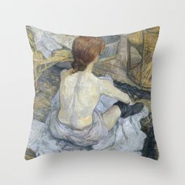 "Henri de Toulouse-Lautrec ""Rousse (La Toilette)"" Throw Pillow"