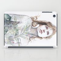 breathe iPad Cases featuring Breathe in, breathe out by agnes-cecile