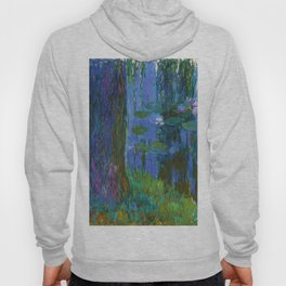 """Claude Monet """"Saule pleureur et bassin aux nymphéas"""" (Weeping Willow and Water Lily Pond) Hoody"""