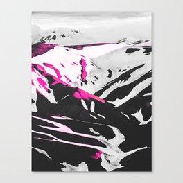 Mountains, Nature, Landscape, Scandinavian, Minimalist, Modern, Wall Art Canvas Print
