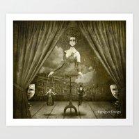 Dark Victorian Portrait Series: A Ghastly Spectacle Art Print