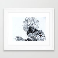 winter soldier Framed Art Prints featuring Winter Soldier  by Pruoviare