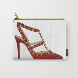 Valentino Rockstud pumps fashion illustration red gold Carry-All Pouch