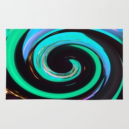 Swirling colors 02 Rug