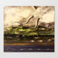 kraken Canvas Prints featuring Kraken by Ryky