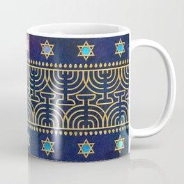 Hanukkah Menorah Pattern Coffee Mug