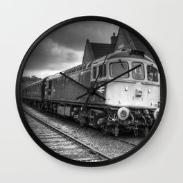 Type 33 locomotive - B&W Wall Clock