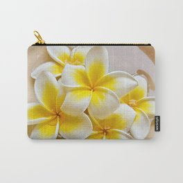 Plumeria Blossoms Carry-All Pouch