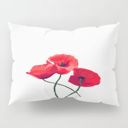 Three Poppies Pillow Sham