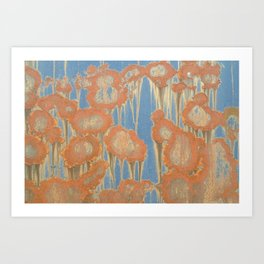 Rusty Blossoms Art Print