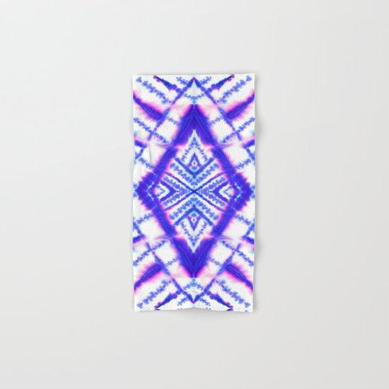 Dye Diamond Iridescent Blue Hand & Bath Towel