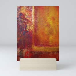 Abstract Art Color Fields Orange Red Yellow Gold by Philip Bowman Mini Art Print