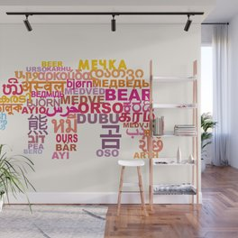 Bear in Different Languages Wall Mural