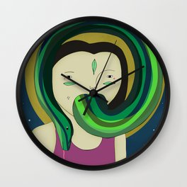 Self Portrait V Wall Clock