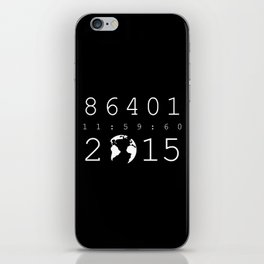86401 Leap Second 2015 (white version) iPhone Skin