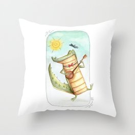 Play for me Croco Throw Pillow