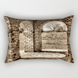 Looking Through the Arches Rectangular Pillow