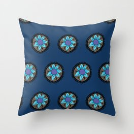 Rangoli Flower Throw Pillow