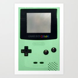 Gameboy Color: Mint Art Print