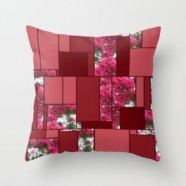Crape Myrtle Art Rectangles 8 Throw Pillow