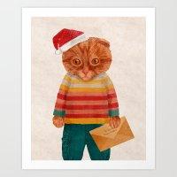 Oakley the Catster Art Print