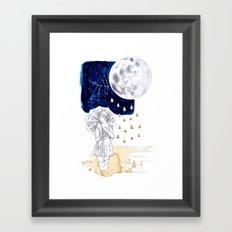by moonlight Framed Art Print