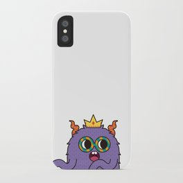Monsticky Purple monster iPhone Case