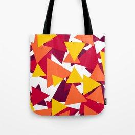 Bright & Warm Triangles Tote Bag