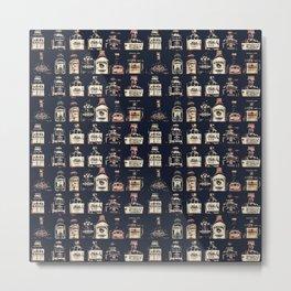 Alcoholic Drinks Pattern Metal Print