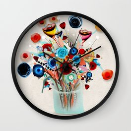 Rupydetequila Vase with flowers - Still Life Floral 2018 Wall Clock