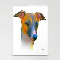 greyhound Stationery Cards featuring Greyhound by Marlene Watson