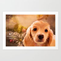 cookie Art Prints featuring Cookie.. by YvetteCheri-DigiArt