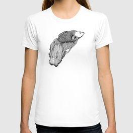 Siamese fighting fish T-shirt