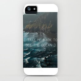 Oregon coast, Pacific Ocean, Pacific Coast, Ocean waves, Water, Blue Waves, Nature, Hipster, Moody iPhone Case