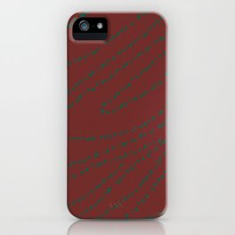 Red Green Stained glass iPhone Case