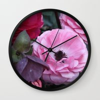 coasters Wall Clocks featuring The Softest Pink by H. N.